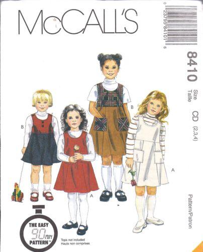 8410 non Découpé Mccalls Patron Couture Bébé Fille Pull Pull 90 Minute Facile