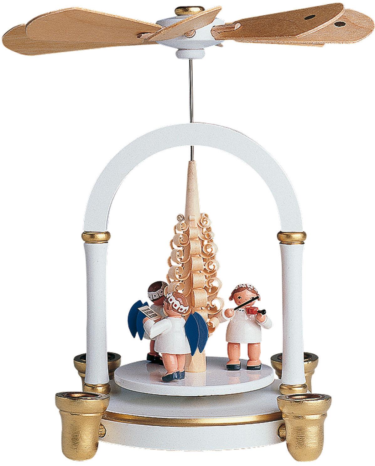 KWO Pyramide mit Engel oder Christi Geburt Erzgebirge