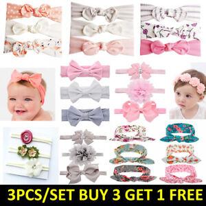 US Kid Hair Bow For Baby Girl Headband Newborn Children Toddler Elastic Hairband