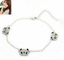 Trendy Korean Lovely Shining Crystal Attractive Panda Head Girl Bracelet Bangle