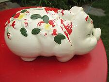 Vintage Ceramic Classic Piggy Bank.  Large Piggy Bank.