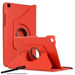 Housse-Etui-Rouge-pour-Samsung-Galaxy-Tab-A-8-0-2019-T290-Support-Rotatif-360