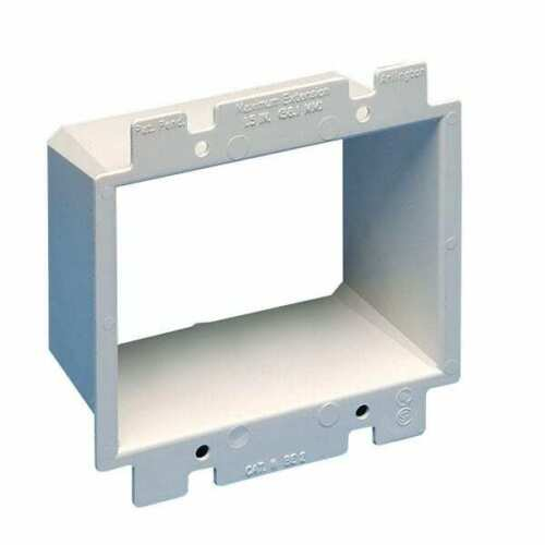 Pack of 3 3 Arlington BE2 2-Gang Electrical Outlet Box Extender