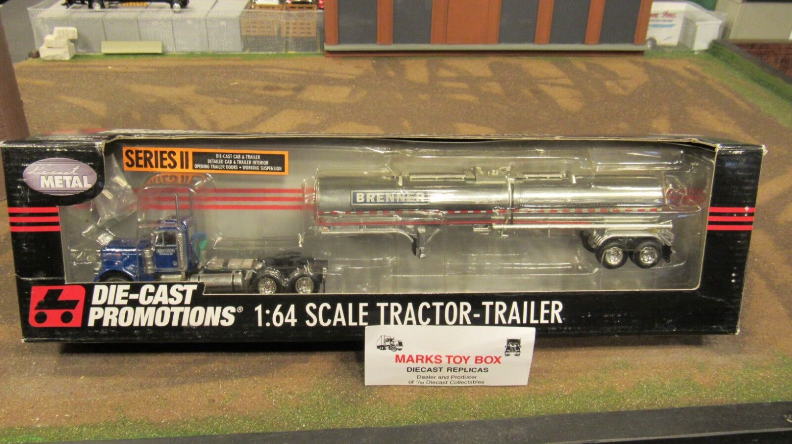 DCP 30723 Brenner Corp Pete 379 Semi Cab Camion Chemical tanker trailer 1 64 FC
