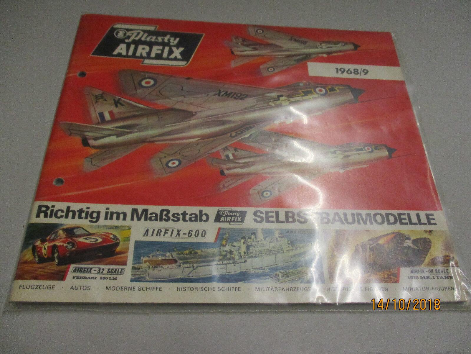 Airfix Modell Bausätze Katalog 1968 69  | Neuer Stil