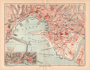 Details about Antique map. ITALY. CITY MAP OF GENOA. c 1895 on city map of kahoolawe, city map of bolivia, city map of estonia, city map of the netherlands, city map of slovenia, city map of libya, city map of tanzania, city map of myanmar, city map of the carolinas, city map of bosnia and herzegovina, city map of kuwait, city map of slovakia, city map of antigua, city map of latin america, city map of aruba, city map of tuscany, city map of bahrain, city map of mesopotamia, city map of luxembourg, city map of holland,