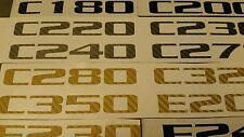 Mercedes Benz Boot rear model badge Carbon Fibre vinyl decal Sticker A B C E