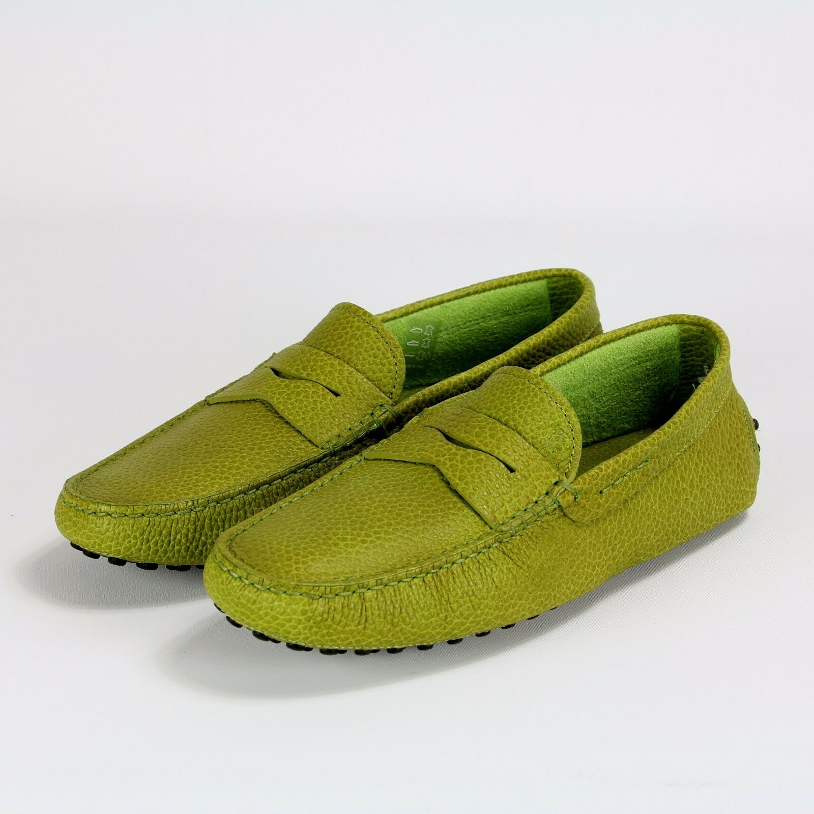 425 NEW Tods verde Gommino Leather Drivers Loafer Moccasins scarpe 6 36 ITALY