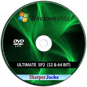Reinstall Recovery Repair Disc Windows Vista ALL Editions Install Restore