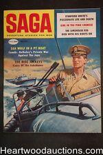 Saga Aug 1958 Jonas Salk Polio, Borack Cover, Artemus Beecher, Herb Mott - High