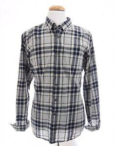 J-Crew-Mens-2-Ply-Cotton-Button-Down-Up-Shirt-Tartan-Plaid-Blue-Sz-XL-17-17-5