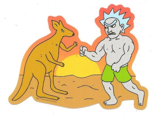Rick and Morty Bushworld Adventures Kangaroo Boxing Image Peel Off Sticker Decal