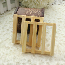 Wood Wooden Soap Tray Holder Dish Box Case Bath Shower Plate Bathroom Accessory