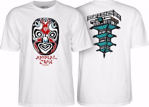 Powell Peralta CHIN MASK Skateboard Shirt WHITE XXL