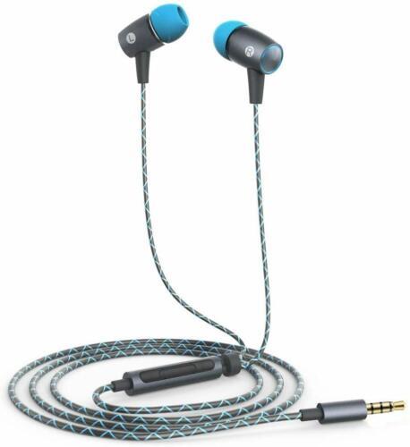 Original Huawei Kopfhörer AM12 PLUS Grau-Blau In Ear Headset mit Mikrofon