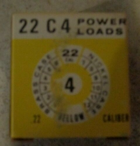 UNICET 22 C 4 POWDER LOADS .22 CALIPER POWER LEVEL 4 100 LOADS **