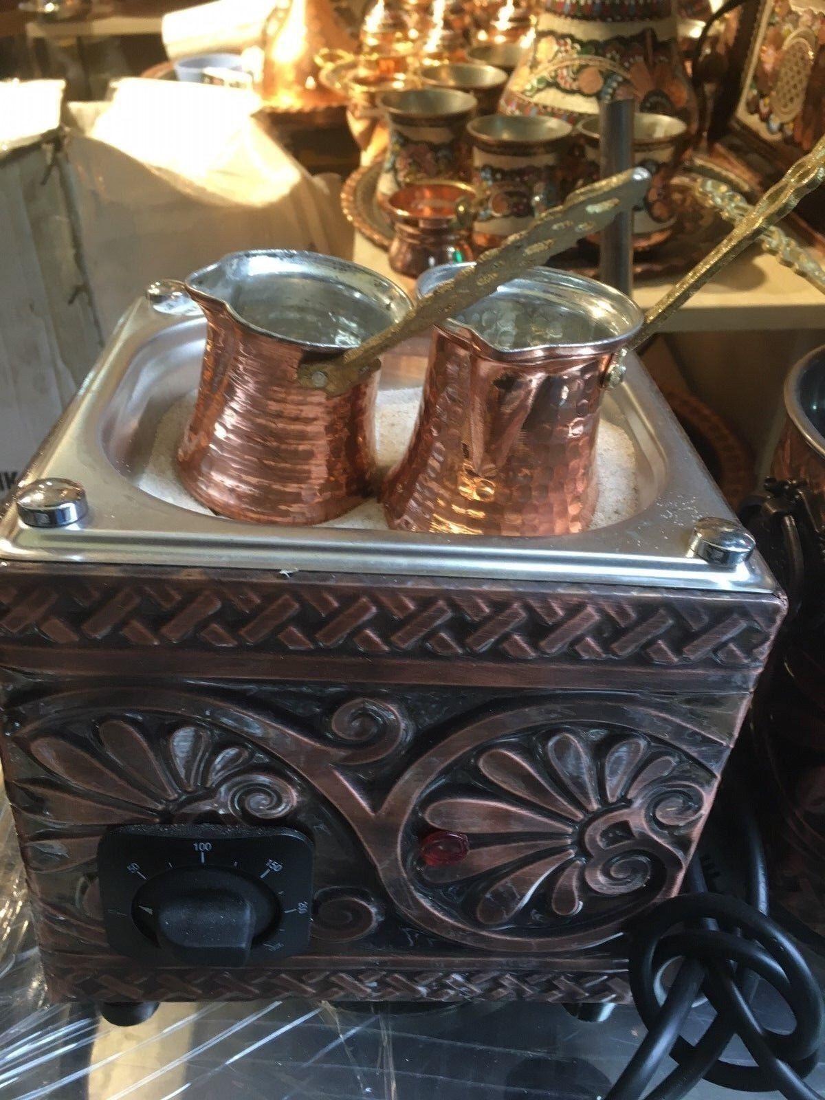 Turc Arabe cuivre Hot Sand Cafetière Café Chauffe Authentique kumda kahve