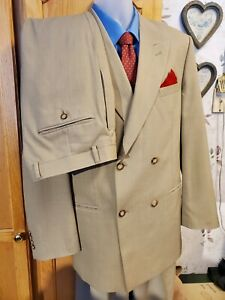 Club International Men S Tan Two Piece Suit Wedding Prom 42l Pants 36 X 31 Ebay