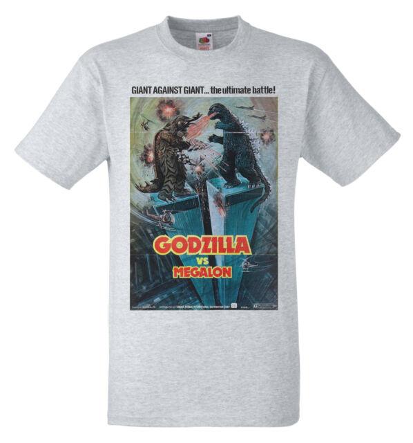 Godzilla vs. Megalon (1973)  B Movie poster Retro 70s T shirt