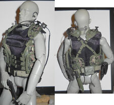 1/6 Scale Dragon Modern US Military Tactical Vest w Harness Pistol Throat Mic
