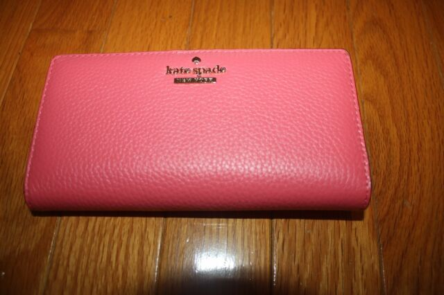 21edc6701c884 Kate Spade Jackson Street Stacy Warmguava Color Leather Wallet for ...