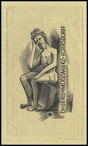 Jakubowski-Wojciech-1959-Exlibris-C2-Bookplate-Jesus-Christ-Religion-99