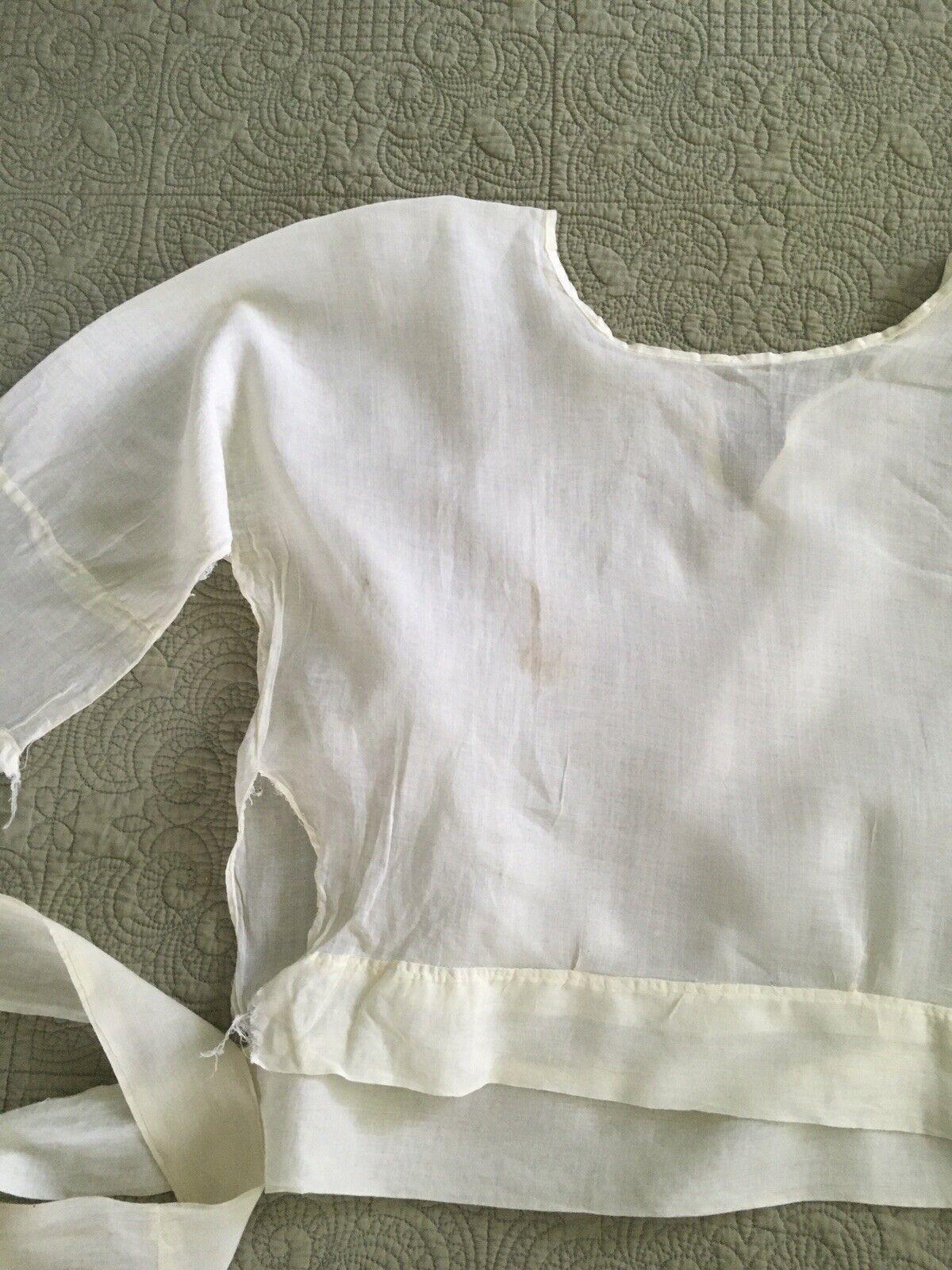Antique Edwardian Victorian Shirtwaist Blouse - image 9