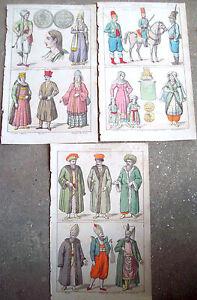 1830-TRE-SPLENDIDE-INCISIONI-ORIGINALI-CON-ABITANTI-DELL-039-ARMENIA-TURCHIA-SMIRNE