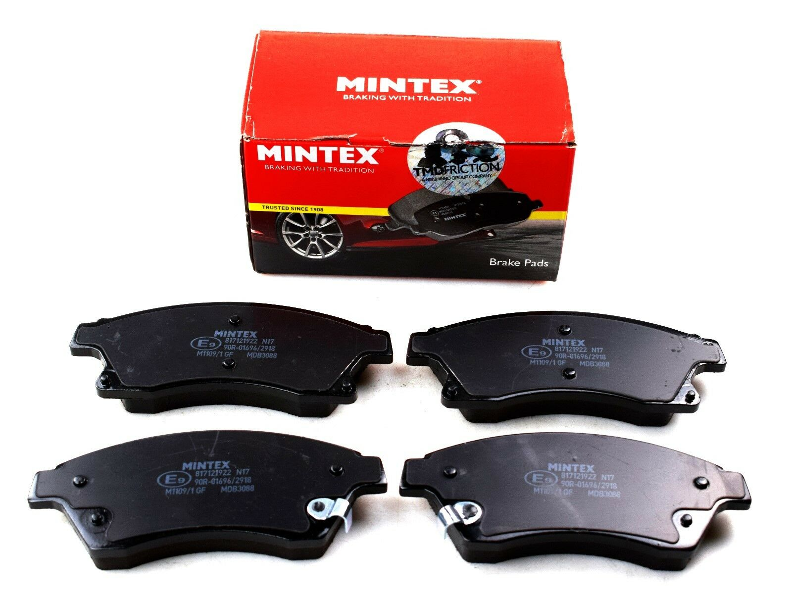 NEW MINTEX FRONT DISC BRAKE PADS SET MDB3088