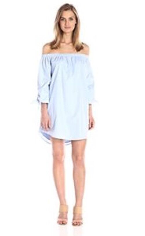 Lucca Couture Off The Shoulder Dress Top bluee--XS