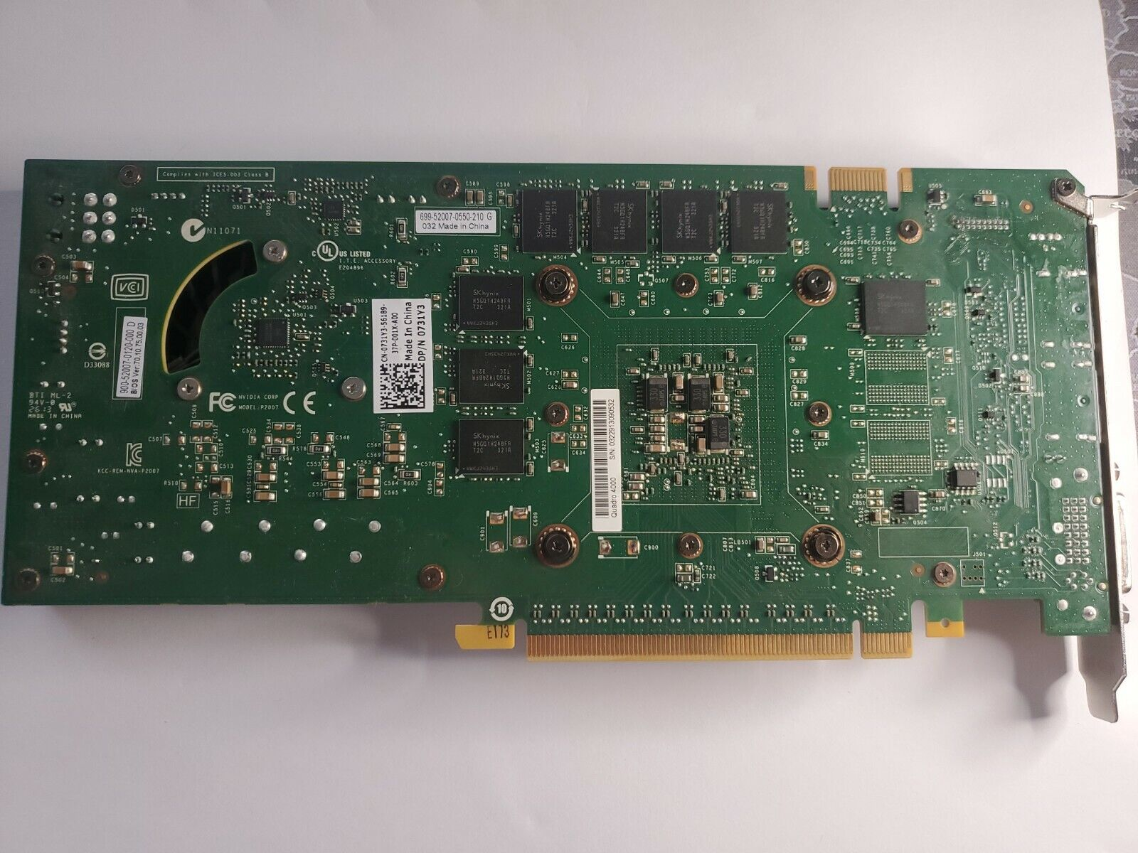 NVIDIA Quadro 4000 2GB GDDR5 Workstation/Gaming Graphics Video Card GPU 0731Y3