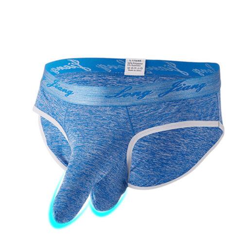 Mens Mid Rise Penis Sheath Long Pouch Boxer Briefs Underwear Shorts Underpants