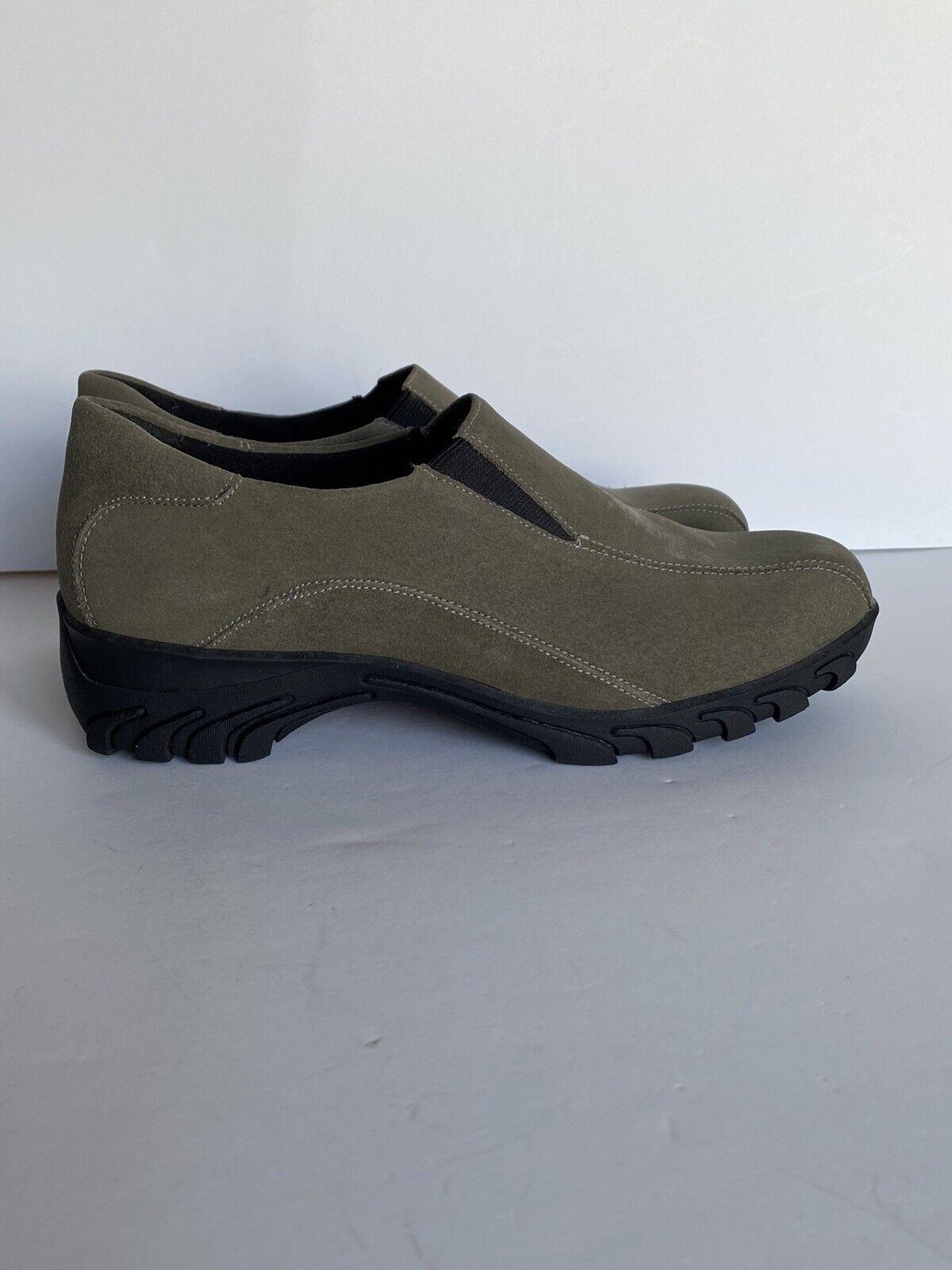 Women's Sporto Shoes Leisure Slip-on Walking Gray Suede Leather Size 8.5