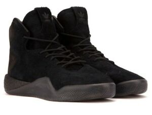 Image is loading NEW-Adidas-Youth-Men-Tubular-Instinct-Black-Suede-