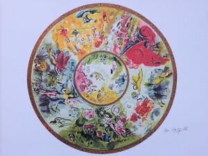 Chagall Marc (Según ) : Techo Ópera Garnier - Litografía Firmada, 500ex