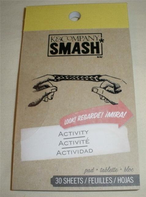 SMASH BOOK ACCESSORY - PAD - ACTIVITY  - Journaling, Scrapbooking - 30 Sheets