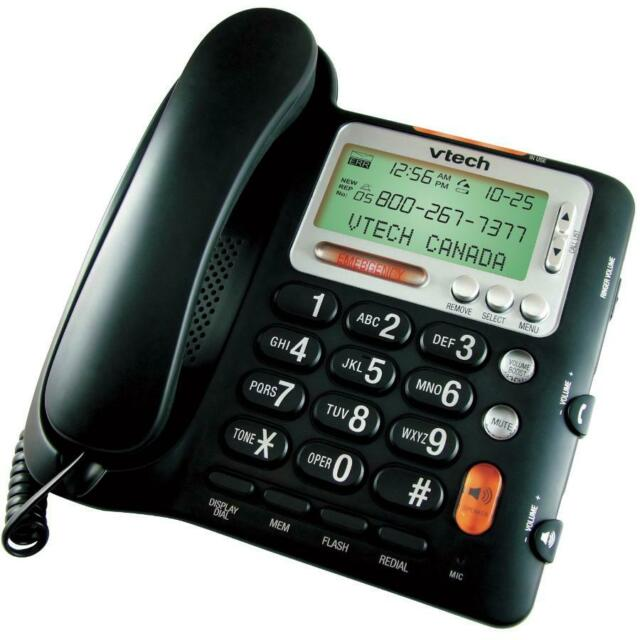 VTech CD1281 Corded Big Button Telephone with Speakerphone, Volume Boost and