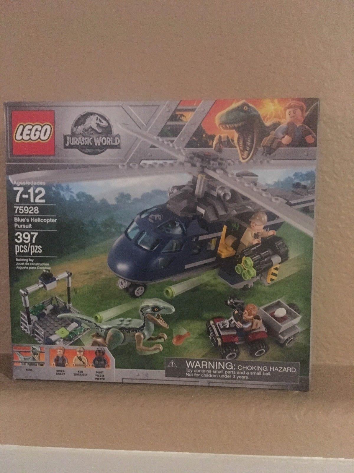 LEGO New Sealedbluee's Helicopter Pursuit Jurassic World Age 7+ 397 Pcs