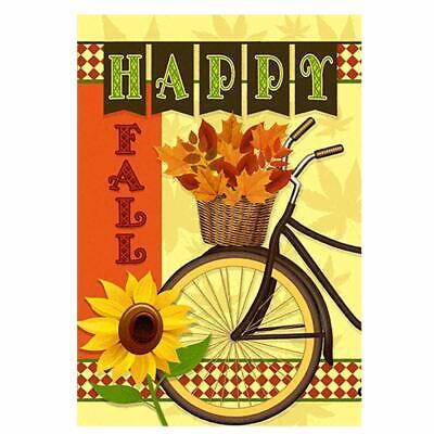 Hello Fall Evergreen Decorative Garden Flag Sunflower Leaves Thanksgiving