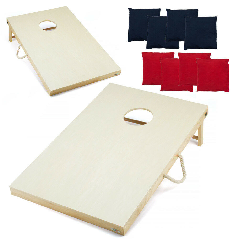 4'x2'  Solid Wood Cornhole Board Toss Game Set with 8 Bean Bags