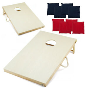 Terrific Details About 4X2 Regulation Size Unfinished Wood Cornhole Board Game Set Bean Bag Toss Game Theyellowbook Wood Chair Design Ideas Theyellowbookinfo