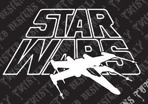 Star Wars X wing car truck vinyl decal sticker cool jedi luke empire yoda