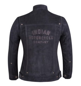 INDIAN MOTORCYCLE WOMENS BLACK SUEDE LEATHER BESSIE JACKET LOGO IMC S M L XL 2X