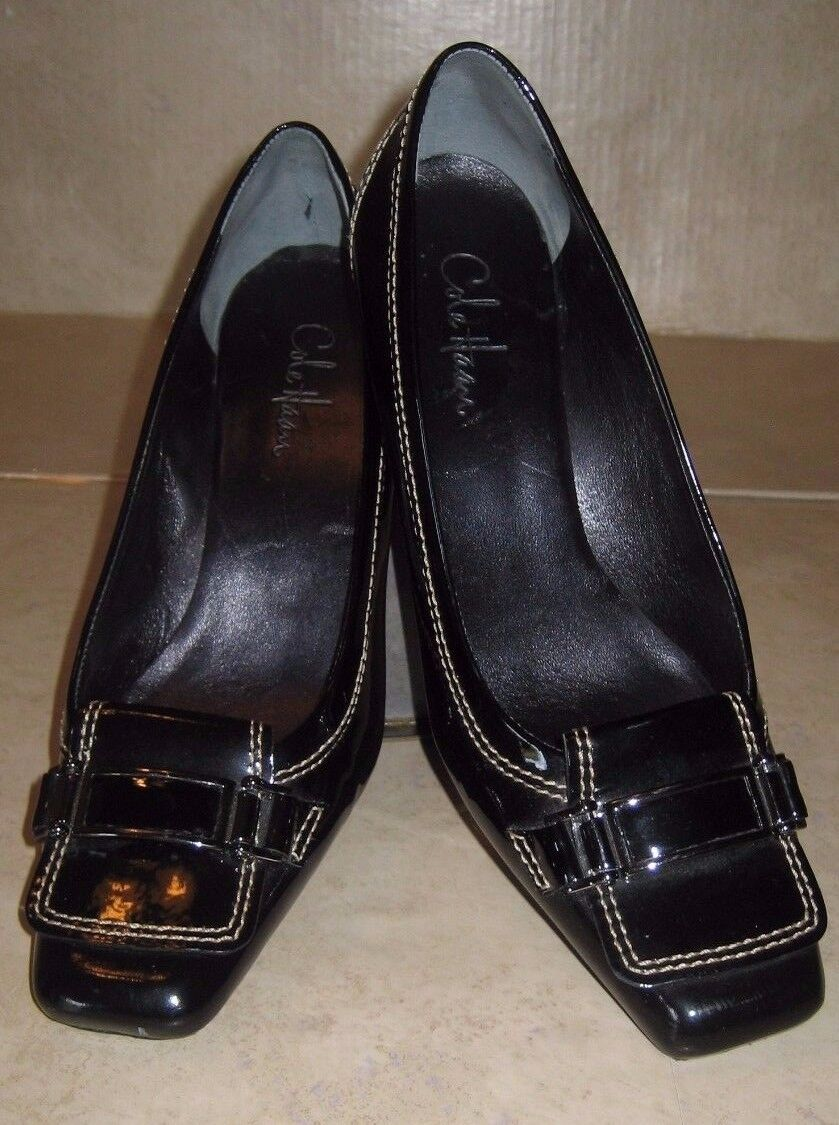Cole Haan Black Patent Leather Shoes Pumps Heels Women's Size 8 NARROW