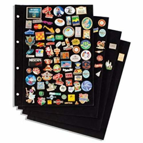STUDS PIN BADGE COLLECTORS ALBUM WITH BOARDS FOR BADGES PINS 4 COLOURS