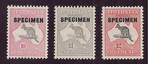 S2206) Australia Canguro specimen serie 1931 */** 2 sterline Fresco Posta