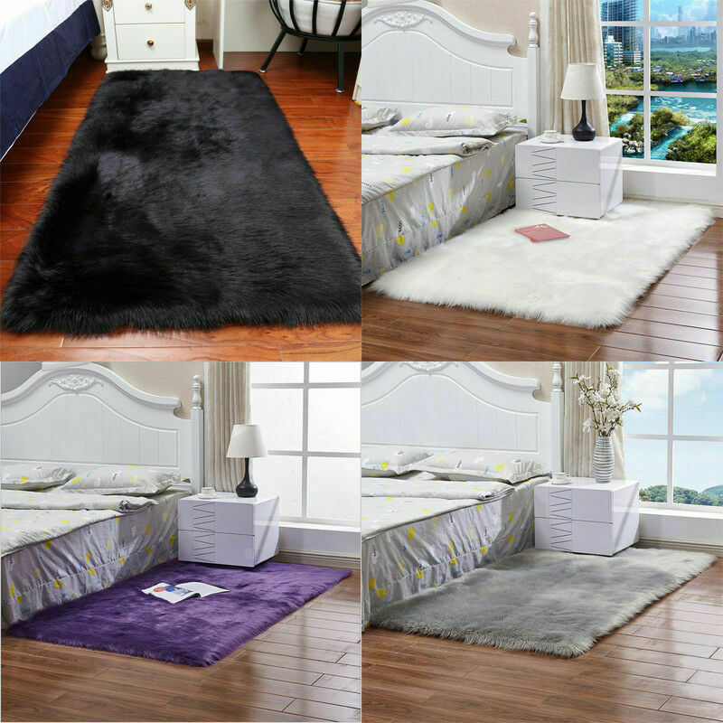 Soft Cosy Shaggy Rugs Fluffy Living Room Area Carpets Bedroom Runners Home UK 2
