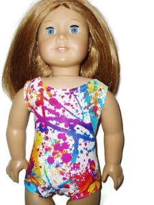 Paint-Splatter-Leotard-fits-American-Girl-18-034-doll-clothes-Gymnastics