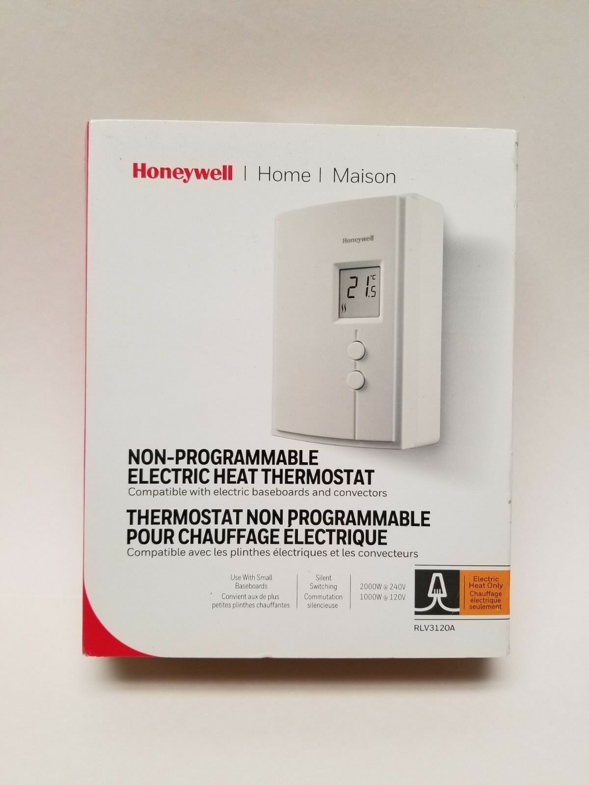 honeywell ct410a line electric heat thermostat control new model