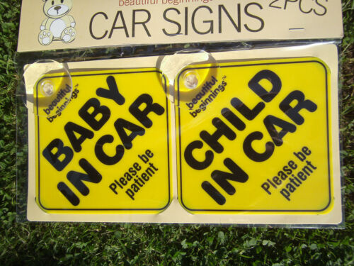 2 x CHILD///'BABY Blue//Purple ON BOARD/' Safety Signs Visibility Car Back Window